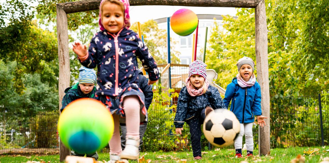 Außengelände der integrativen KITA Kinderland